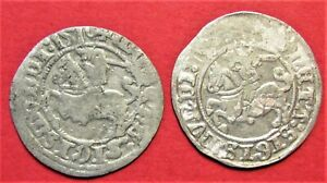 SILVER MEDIEVAL COIN 1/2 GROSCH SET 2 PIECES