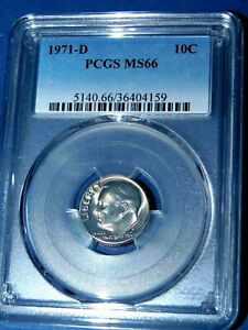 Click now to see the BUY IT NOW Price! 1971 D 10C ROOSEVELT DIME PCGS MS66  477 1