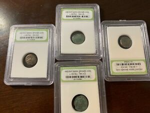 SLABBED ANCIENT GREEK COINS. C.400 B.C.   300 A.D. FREE S&H 1 COIN /BID