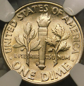 Click now to see the BUY IT NOW Price! 1953 D 10C ROOSEVELT DIME CERTIFIED NGC MS68 FT FULL TORCH/BAND  SPECIMEN