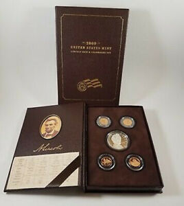 2009 P US MINT LINCOLN CHRONICLES PROOF SET SILVER DOLLAR   4 CENTS W/BOX   COA