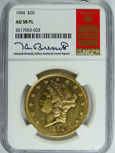 Click now to see the BUY IT NOW Price! 1904 P $20.00 GOLD LIBERTY RED BOOK LABEL NGC AU 58 PL 5320
