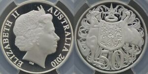 Click now to see the BUY IT NOW Price! AUSTRALIA 2010 SILVER PROOF FIFTY CENT   PCGS PR69DCAM