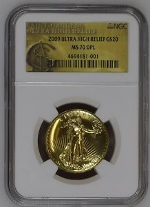 Click now to see the BUY IT NOW Price! 2009 ULTRA HIGH RELIEF GOLD DOUBLE EAGLE MS70 DPL NGC