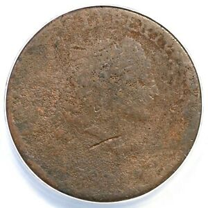 1793 S 4 R 3 ANACS AG 3 DETAILS CHAIN LARGE CENT COIN 1C