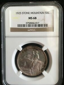 Click now to see the BUY IT NOW Price! 1925 STONE MOUNTAIN NGC MS 68 GRADED HALF DOLLAR  GRADE $20K LIST PRICE