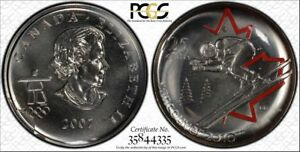 Click now to see the BUY IT NOW Price! 2007 25C CAN PCGS PL68 ALP SKI ONLY 900 MADE  POP