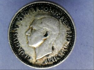1943 D AUSTRALIAN THREEPENCE KING GEORGE VI
