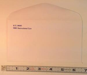 COIN SUPPLIES  1981 US UNC. MINT SET ENVELOPE NEW SLIGHT GLUE FLAW FREE US SHIP