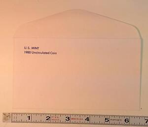 COIN SUPPLIES  1980 US UNC. MINT SET ENVELOPE NEW SLIGHT GLUE FLAW FREE US SHIP