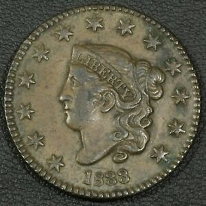 Click now to see the BUY IT NOW Price! 1833 CORONET MATRON HEAD COPPER LARGE CENT   REVERSE CORROSION
