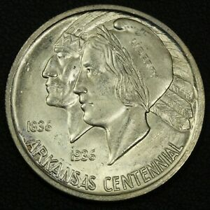 Click now to see the BUY IT NOW Price! 1936 ARKANSAS SILVER COMMEMORATIVE HALF DOLLAR