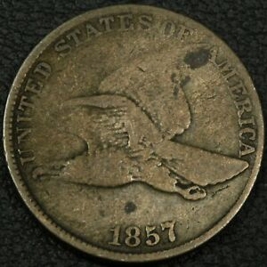 Click now to see the BUY IT NOW Price! 1857 S 16 EXTRA METAL ON WING FLYING EAGLE CENT PENNY