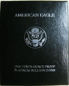 2000 W AMERICAN EAGLE ONE TENTH OUNCE PROOF PLATINUM BULLION COIN