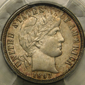 Click now to see the BUY IT NOW Price! 1893 O 10C BARBER/LIBERTY HEAD DIME CERTIFIED PCGS MS63  DATE TONED