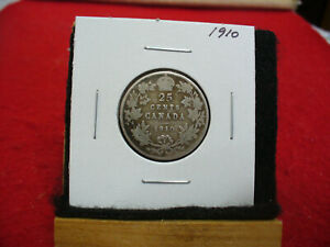 Click now to see the BUY IT NOW Price! 1910  CANADA   SILVER   QUARTER  DOLLAR  25 CENTS   10A  NICE GRADE   STERLING
