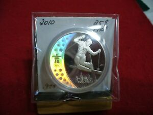 Click now to see the BUY IT NOW Price! 2010  VANCOUVER  OLYMPICS   SILVER   25$ COIN  CANADA   PROOF FREESTYLE   SKIING