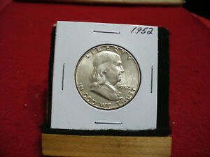 Click now to see the BUY IT NOW Price! 1952   BEN FRANKLIN   HALF  DOLLAR      50 CENT PIECE   COIN   52  GOOD GRADE