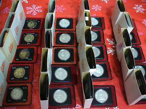 Click now to see the BUY IT NOW Price! HUGE  LOT OF 20  1971 1978  CANADA  SILVER  DOLLARS  COINS    HIGH GRADES