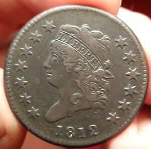 1812 CLASSIC HEAD LARGE CENT S 290 SMALL DATE VARIETY EARLY COPPER 1C TYPE COIN