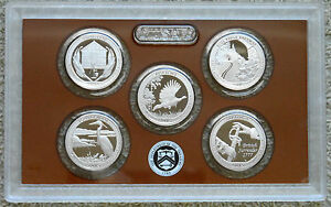 AMERICA THE BEAUTIFUL QUARTERS 2015 PROOF SET CLAD IN OGP WITH COA