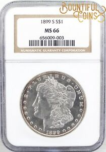 Click now to see the BUY IT NOW Price!  1899 S NGC MS 66 MORGAN SILVER ONE DOLLAR $1 MINT STATE TONED  M138