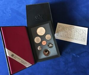 1990 CANADA KELSEY SILVER DOLLAR 7 COIN PROOF SET WITH BOX & COA