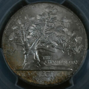 Click now to see the BUY IT NOW Price! 1935 50C CONNECTICUT COMMEMORATIVE HALF DOLLAR   PCGS   CAC MS 67 36824713