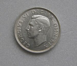 GREAT BRITAIN COIN 2 SCHILLINGS SILVER .500 1940 28MM