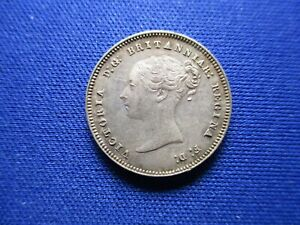 GREAT BRITAIN UK VICTORIA 4 PENCE 1884 MAUNDY