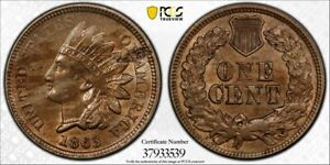 Click now to see the BUY IT NOW Price! 1863 1C PCGS MS62 INDIAN MINT ERROR DEFECTIVE PLANCHET   RICKSCAFEAMERICAN.COM