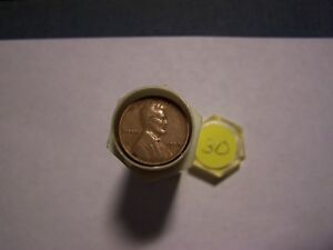 ROLL OF 1930 LINCOLN WHEATS CIRCULATED