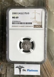 2000 EAGLE US NGC MS 69 1/10 OZ .9995 PLATINUM COIN   DPSPC20