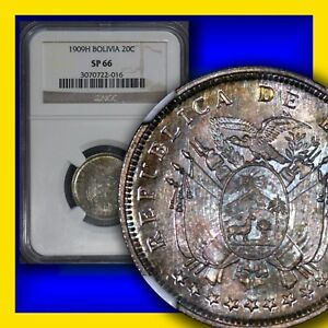 Click now to see the BUY IT NOW Price! BOLIVA 1909 H 20 CENTAVOS NGC SP 66 FINEST JUST SPECTACULAR LY