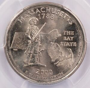 Click now to see the BUY IT NOW Price! PCGS 25C 2000 P MASSACHUSETTS QUARTER ROTATED DOUBLE STRIKE IN COLLAR MS63