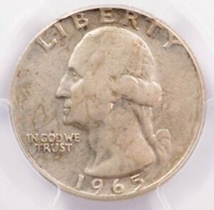 Click now to see the BUY IT NOW Price! PCGS 25C 1965 WASHINGTON QUARTER TRANSITIONAL ON SILVER PLANCHET XF40