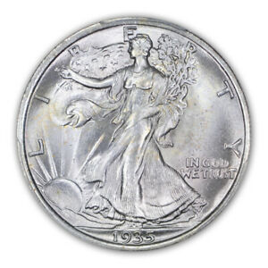 Click now to see the BUY IT NOW Price! 1935 50C WALKING LIBERTY HALF DOLLAR PCGS MS67 TONER LOW POP 1004 3