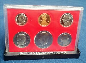 1981 S UNITED STATES PROOF SET 6 COINS W/ SUSAN B. ANTHONY DOLLAR