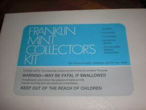 FRANKLIN MINT COIN AND MEDAL CLEANER KIT FOR PROOF QUALITY COINS AND MEDALS