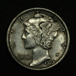 Click now to see the BUY IT NOW Price! 1923 MERCURY SILVER DIME