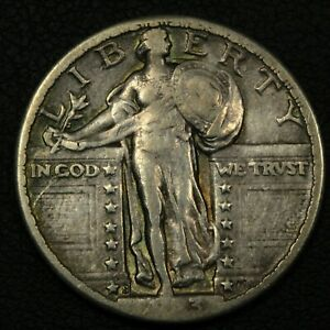 Click now to see the BUY IT NOW Price! 1923 S STANDING LIBERTY SILVER QUARTER   CLEANED