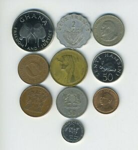 AFRICA   LOT OF 10 DIFFERENT COINS   10 COUNTRIES   GREAT STARTER   LOT AF 94
