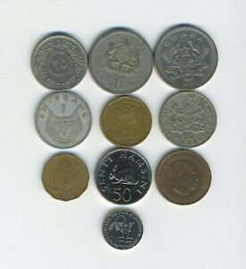 AFRICA   LOT OF 10 DIFFERENT COINS   10 COUNTRIES   GREAT STARTER   LOT AF 97