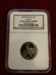 2004 S CLAD TEXAS QUARTER NGC GRADED PF 70 ULTRA CAMEO