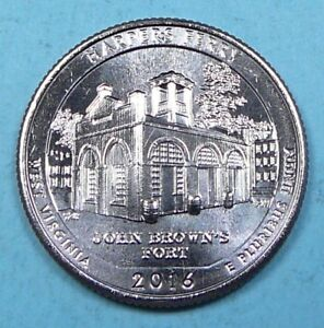 2016 D HARPERS FERRY WEST VIRGINIA WV ATB WASHINGTON QUARTER UNCIRCULATED BU 091