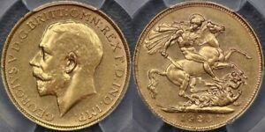 Click now to see the BUY IT NOW Price! AUSTRALIA 1923 SYDNEY SOVEREIGN   PCGS AU55