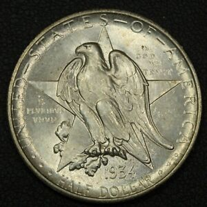 1934 TEXAS SILVER COMMEMORATIVE HALF DOLLAR   UNCIRCULATED