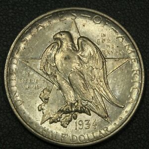 1934 TEXAS SILVER COMMEMORATIVE HALF DOLLAR