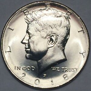 2018 P&D KENNEDY HALF DOLLAR SET CLAD TWO COINS SET UNCIRCULATED