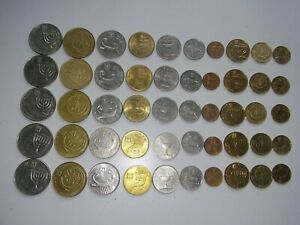 ISRAEL SET OF 10 COINS 100 1/2 SHEQALIM 2 10 5 1 AGOR PRICE FOR ONE SET